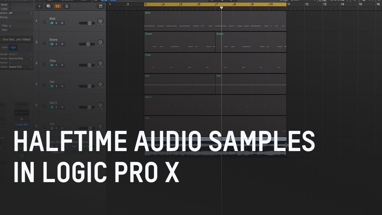 1/2 Time your Audio in Logic Pro X